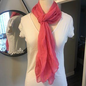 Accessories - 💛💛Lightweight, sheer, bright pink scarf 💛